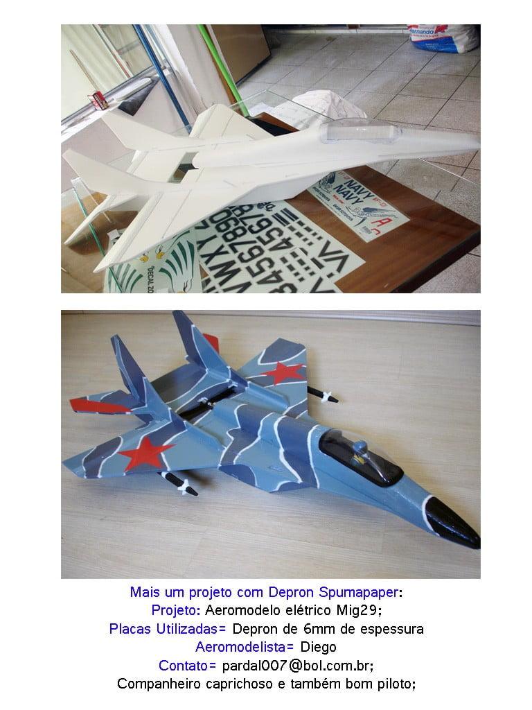 2-Aeromodelo feito utilizando como base as placas de Depron