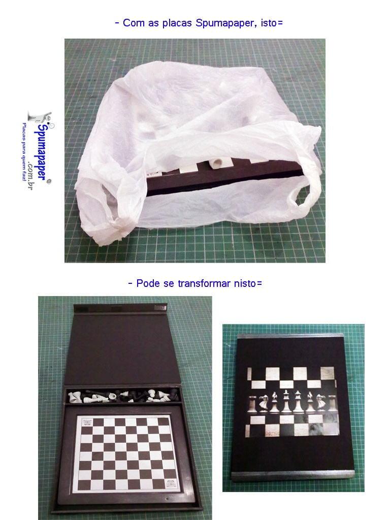 Caixa com Spumapaper-Foamboard-Placa Pluma-Metier