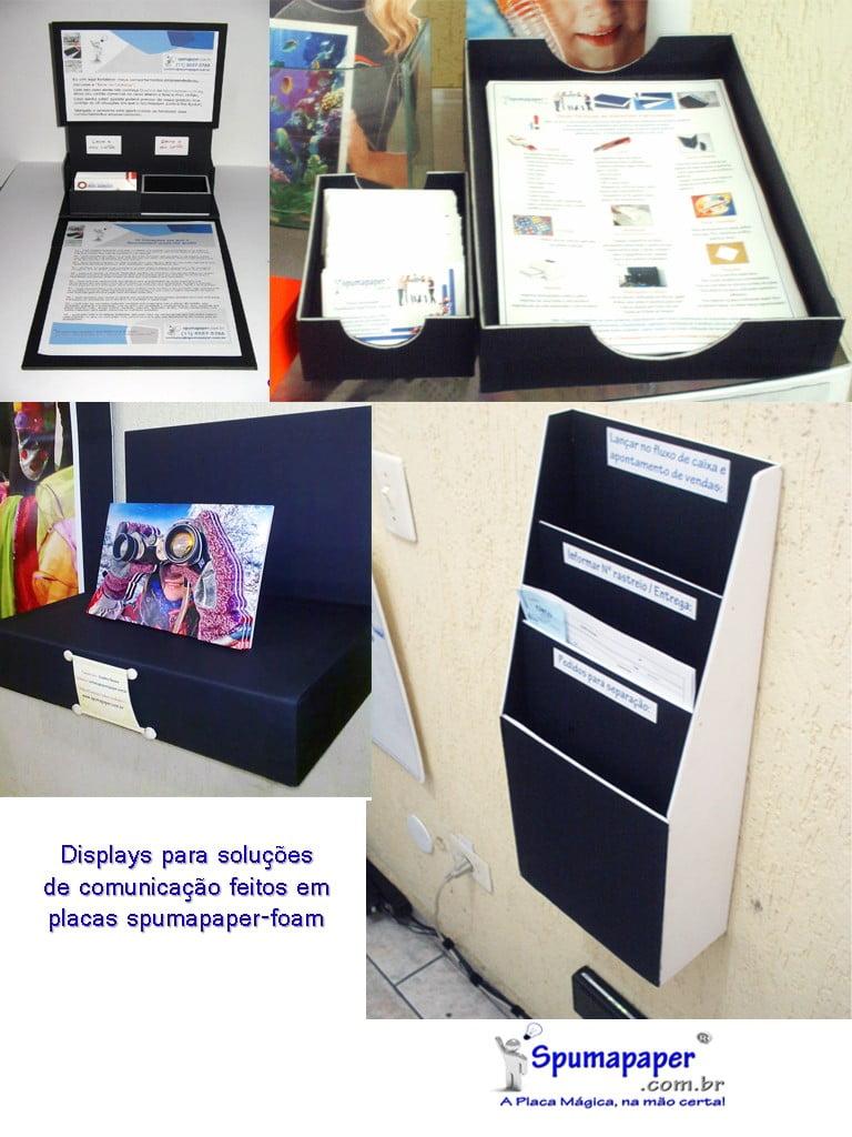 displays em spumapaper-foam