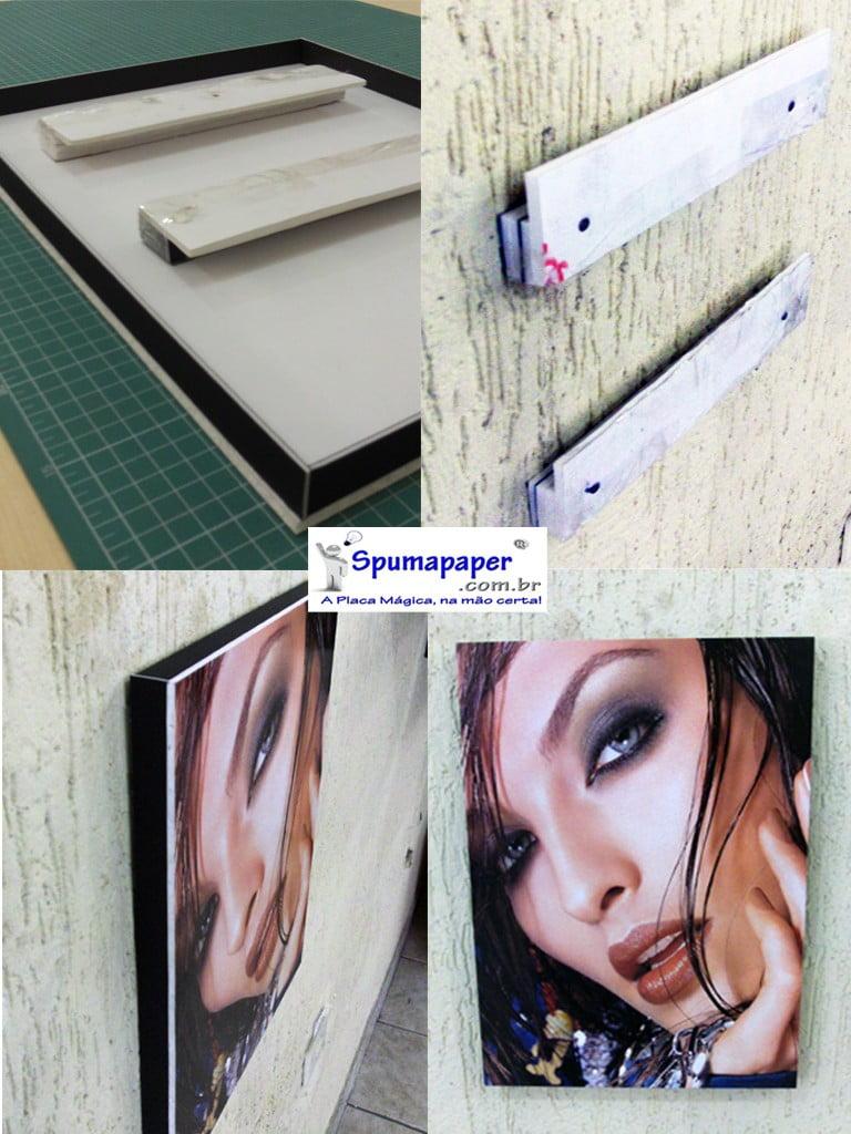 Foto montada em Spumapaper-FoamBoard