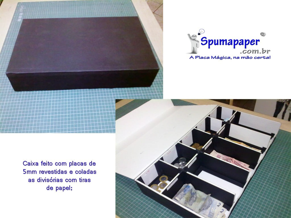 Gaveta Caixa feita em placas Spumapaper