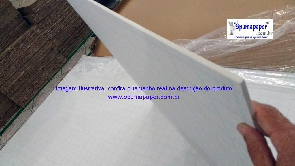 Placa Foamboard Spumapaper Auto-adesiva Branca/ Branca/ Autoadesivo - 5BBBAD0A - 100cm x 80cm x 5mm (Atacado= Pedidos acima de 10unidades)