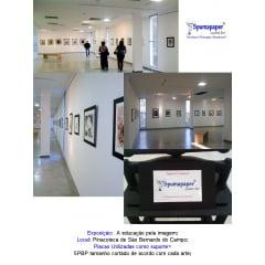 1-Exposição  feita utilizando as placas Spumapaper como suporta da arte
