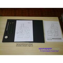 Apoio para desenhos, anotações, croquis