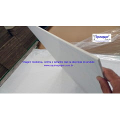 Placa Foamboard Spumapaper Auto-adesiva Branca/ Branca/ Branca - 5BBBAD2A - 60cm x 45cm x 5mm (Atacado= Pedidos acima de 10unidades)